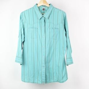 North Face Blouse Western Striped 3/4 Sleeves XL